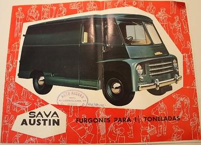 Publicitat furgó Sava Austin 1964