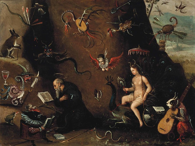 Circle of Pieter Huys - The Temptation of Saint Anthony, 16th C