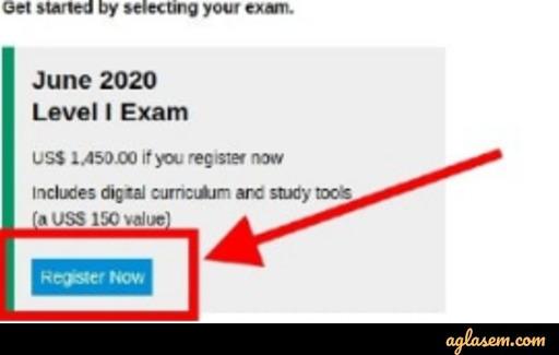 Registration for CFA Exam
