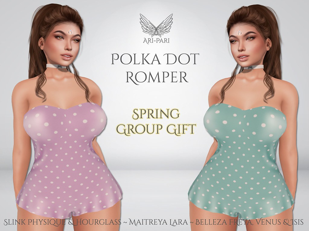 [Ari-Pari] Polka Dot Romper – Spring Group Gift