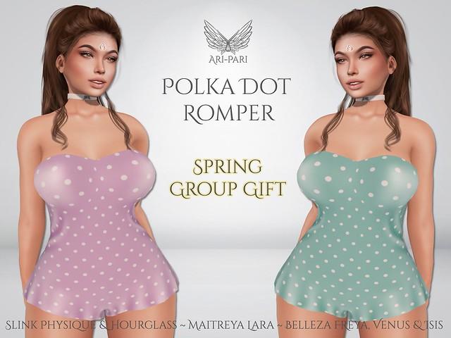[Ari-Pari] Polka Dot Romper - Spring Group Gift