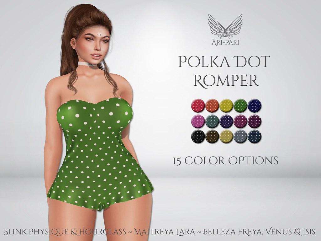 [Ari-Pari] Polka Dot Romper