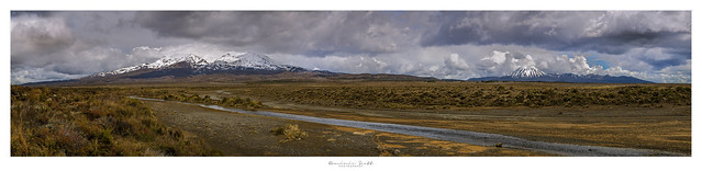 Stormy Day On The Central Plateau - Panorama