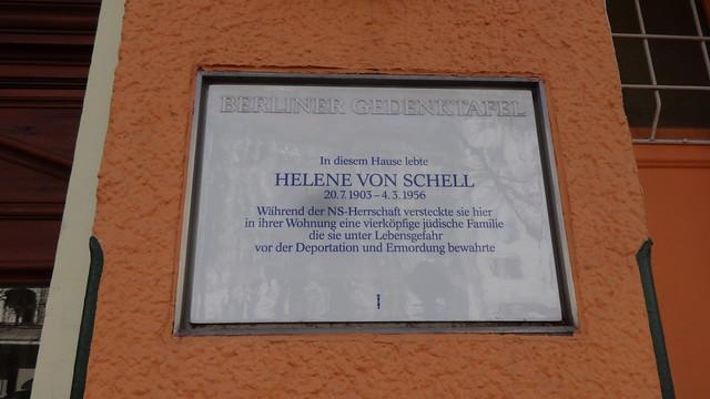 1996 Berlin Berliner Gedenktafel Helene von Schell (1903-1956) Waldstraße 6 in 10551 Moabit