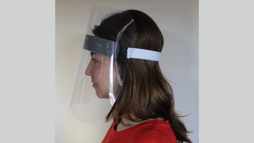 A face shield made by University of Bath staff