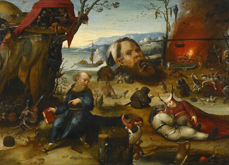 Pieter Huys or Jan Mandijn - The Temptation of Saint Anthony, 16th Century