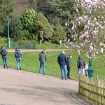 Social distancing lost on these poor souls in Avenham Park, Preston