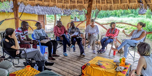 PCSL team members and community representatives during a consultative meeting in Kajiado, in March 2020.