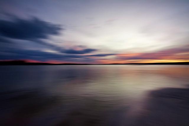 Windabout lake sunset
