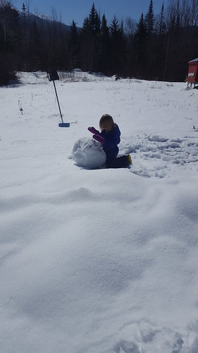 rolling a giant snowball