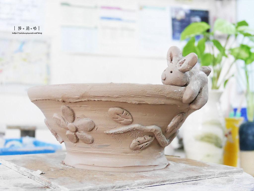 鶯歌老街手拉坯DIY價格價錢茶壺上色燒製親子玩樂推薦 (5)