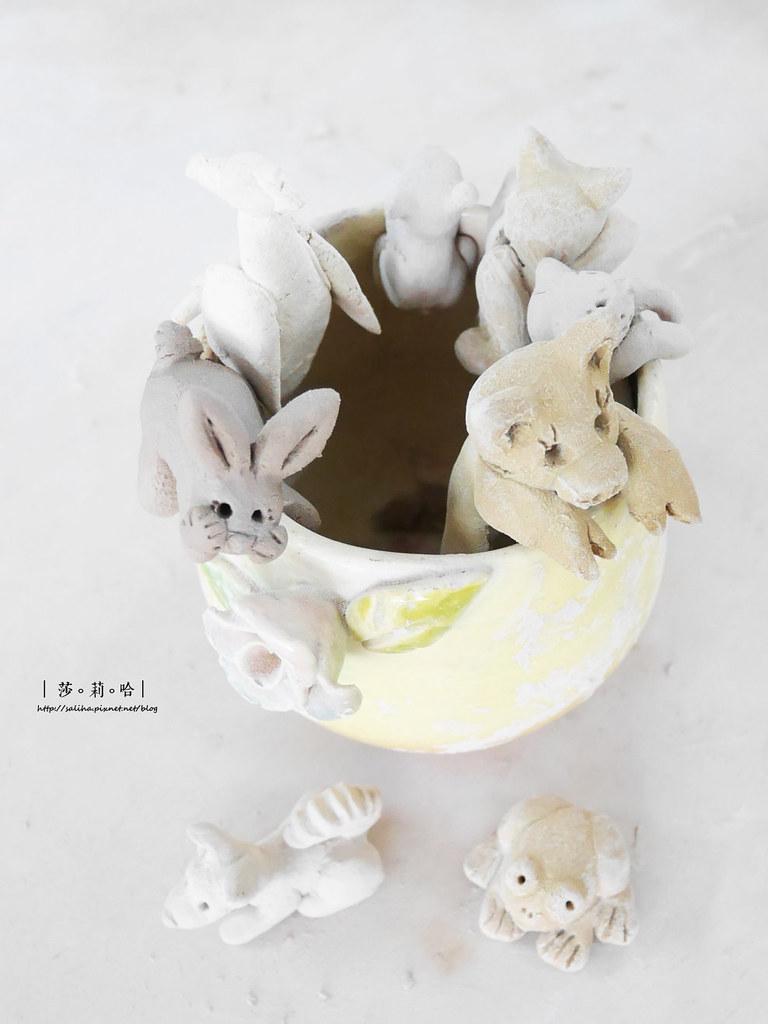 鶯歌老街手拉坯DIY價格價錢茶壺上色燒製親子玩樂推薦 (2)