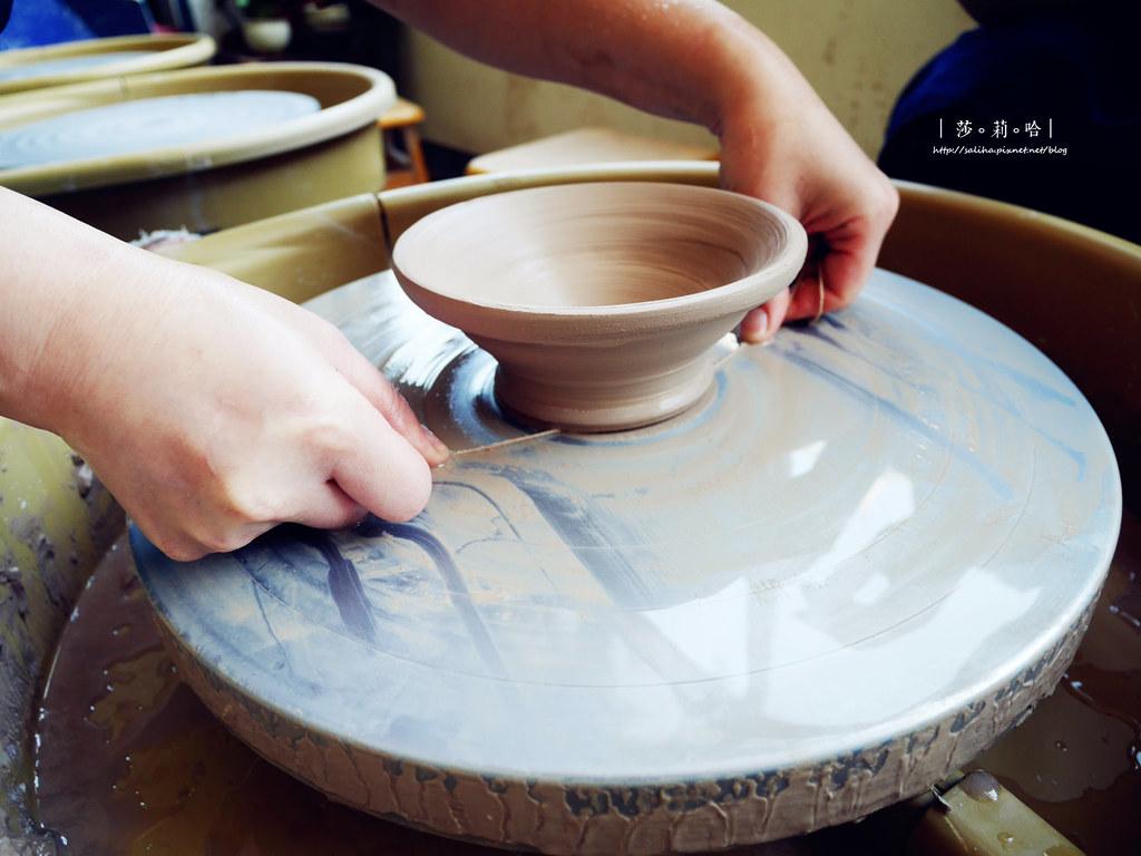 鶯歌老街一日遊景點豐陶藝坊好玩手拉坯DIY店家推薦碗茶壺杯子 (1)