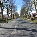 Empty Egerton Road in Ashton, Preston