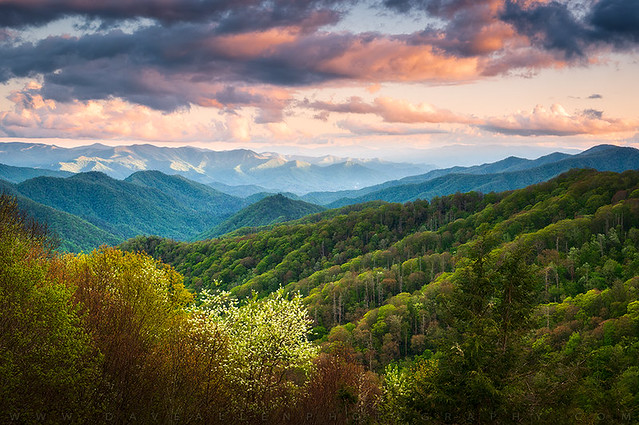 Great Smoky Mountains National Park Scenic Landscape Cherokee NC