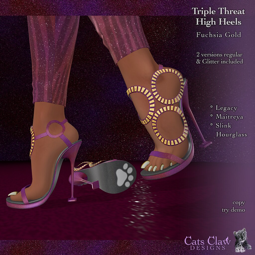 _CCD_ Triple Threat Heels Fuchsia Gold-AD