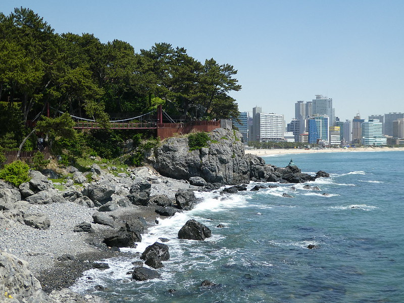 Dongbaekseom Island and Haeundae Beach, Busan, South Korea