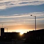 Golden rooftops near Preston Docks