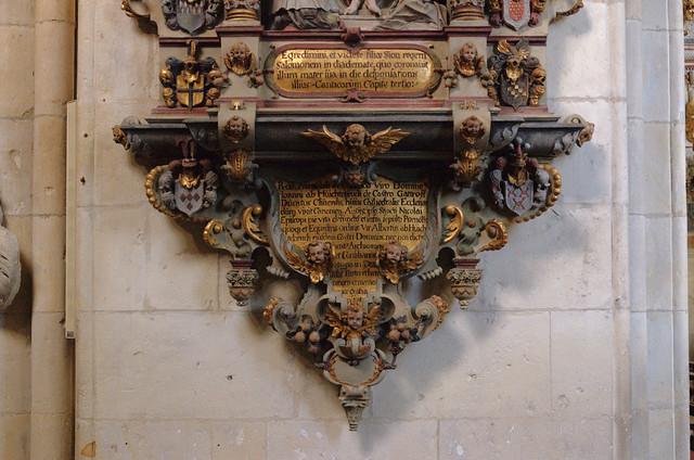 Münster, Westfalen, Dom, monument to Johann Huichtebruch †1615, detail