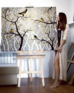 Painting Artwork Birds