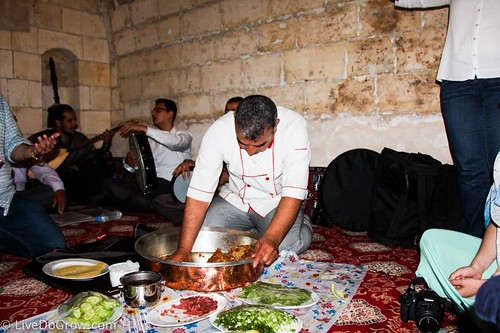 "helping to cook Çiğ köfte during a ""Sira"" night of music, food and dance that made the day stand out at Turkmen Konagi restaurant. From A Hidden Gem in Southeastern Turkey: Visit Şanlıurfa"