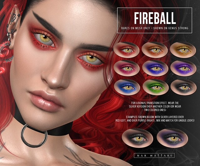 <Nar> Fireball Eyeshadows // BOM ONLY @ Necrosis