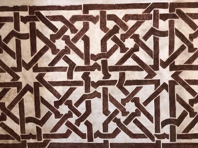 Pinturas mudéjares de la sala de audiencias del castillo de Peña Bermeja en Brihuega (Guadalajara)