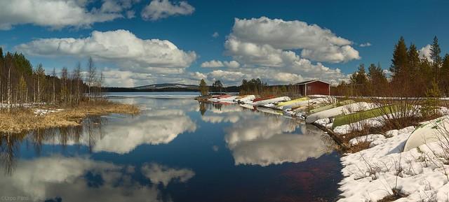 Spring at lake Kuntijärvi