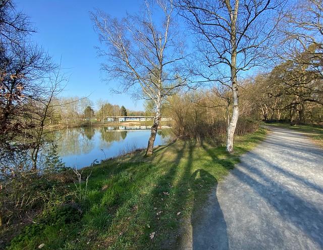 The Steinrod Lake in Graefenhausen near Darmstadt in Germany