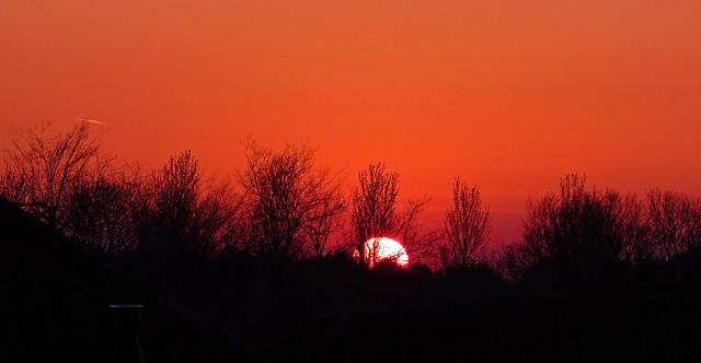 The Sun Slips Below the Horizon.