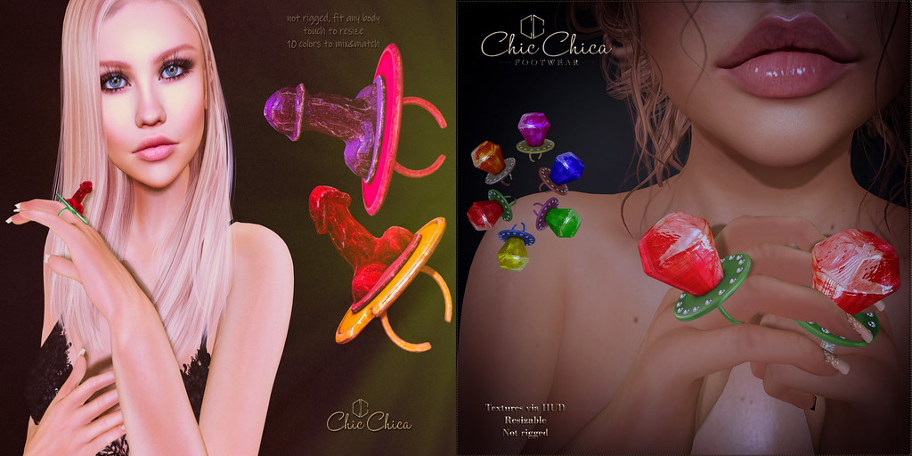 Pop rings by ChicChica 70 lindens for The Saturday Sale