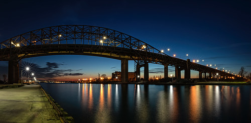 2020 canon5dmarkiv hamilton skywaybridge sunset ontario canada imga8016pano bluehour canal burlington