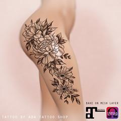 ADA Tattoo Shop Thigh floral composition (BoM, OMEGA, MAITREYA)