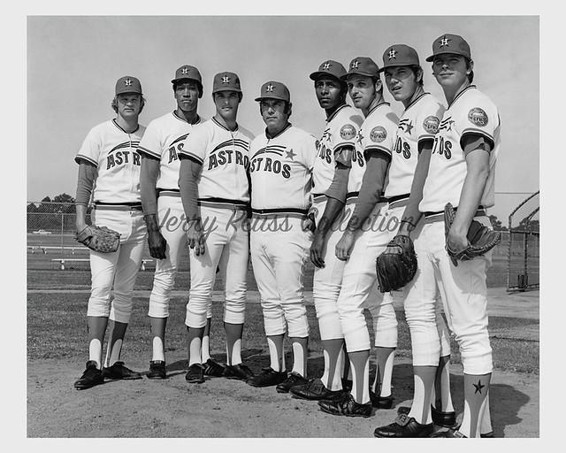 1973 Reuss, Richards, Griffin, Owens, Wilson, Roberts, Forsch and Dierker