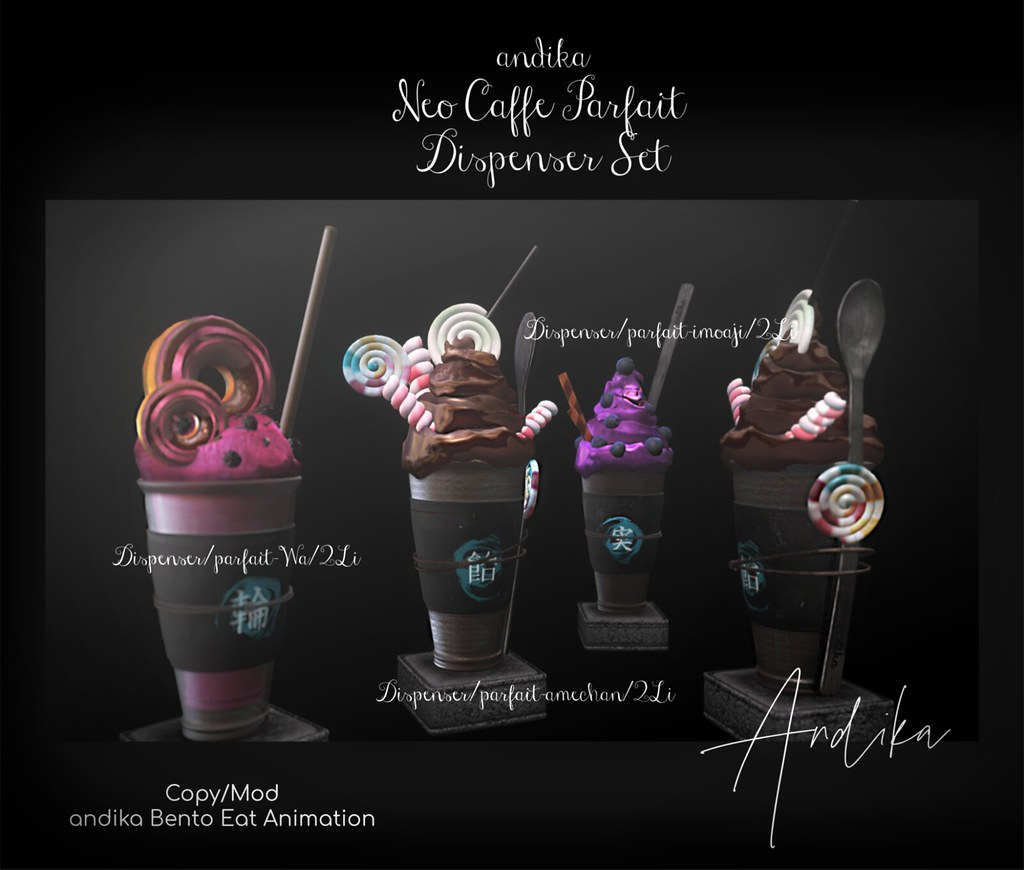 andika [Neo cafe Parfait Dispenser Set]@NEO JAPAN