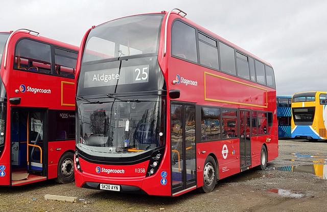 Stagecoach London Alexander Dennis Enviro 400 MMC Hybrid 11358