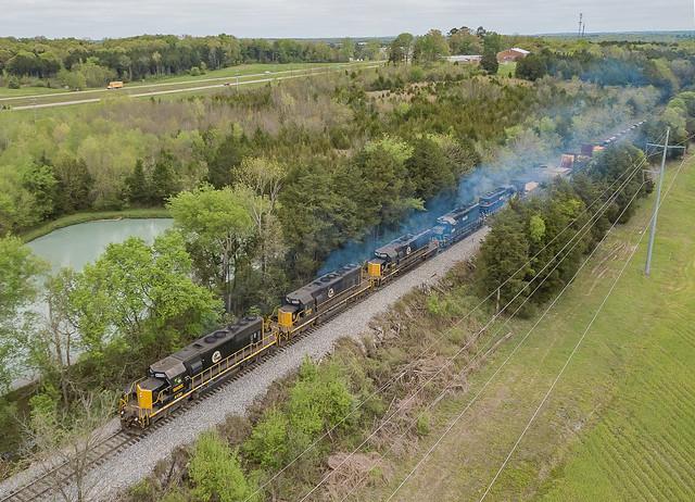 Alabama Southern WAMX 4120 (SD40-2) Columbus, Mississippi