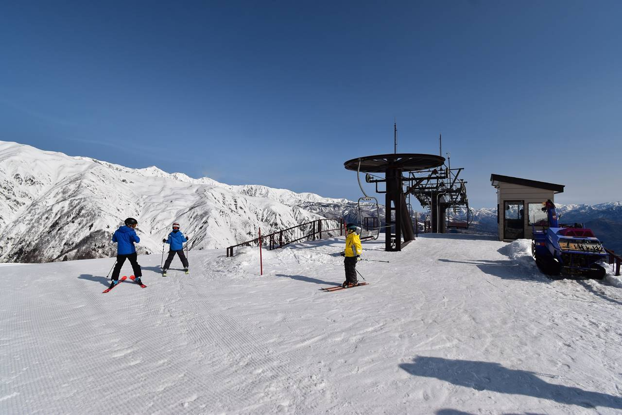 エイブル白馬五竜スキー場・リフト降り場