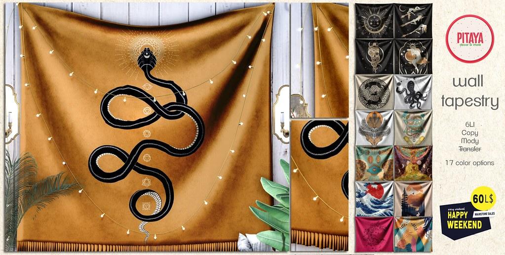 Pitaya: Wall Tapestry – Last Day ♥