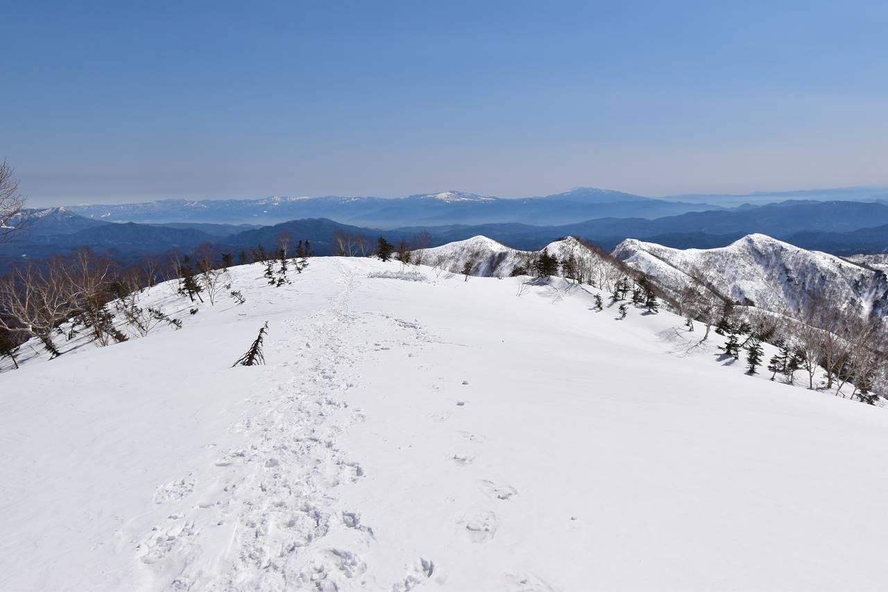 大遠見山から下山開始