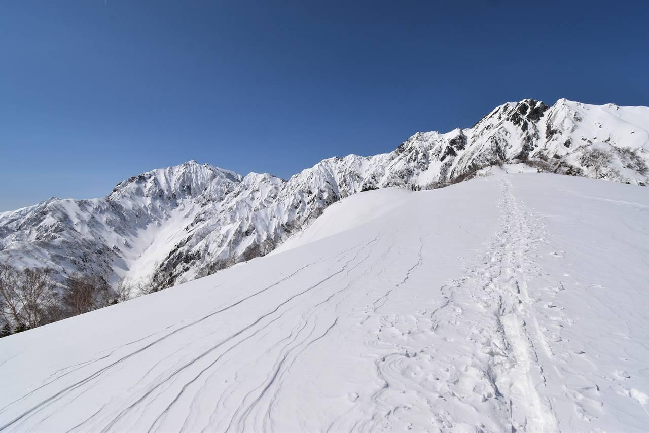 3月の北アルプス・遠見尾根 日帰りスノーハイク