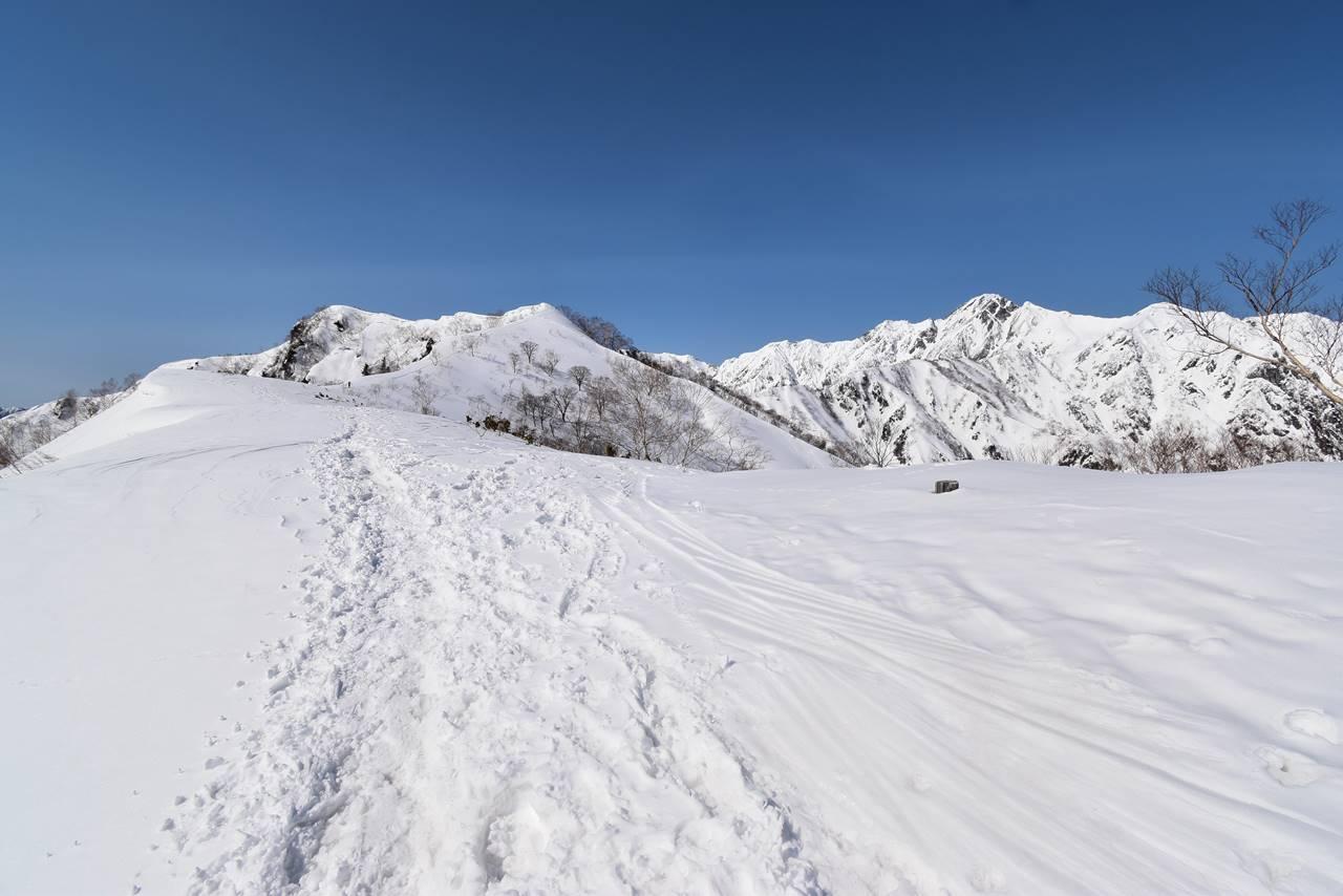 冬の北アルプス・遠見尾根 スノーハイク