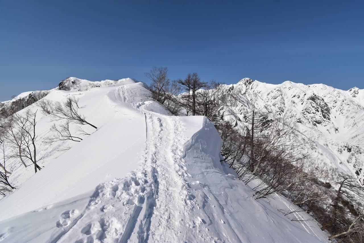 遠見尾根 日帰り雪山登山