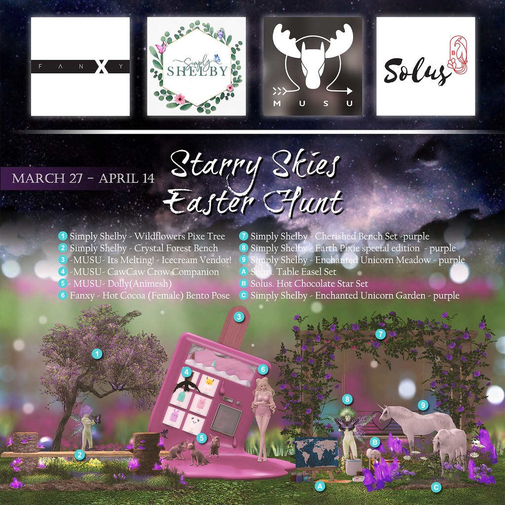 Starry Sky Easter Hunt