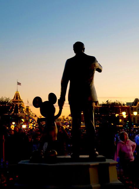 Walt Disney & Friend