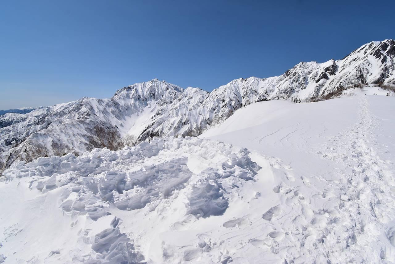 大遠見山のテント泊跡