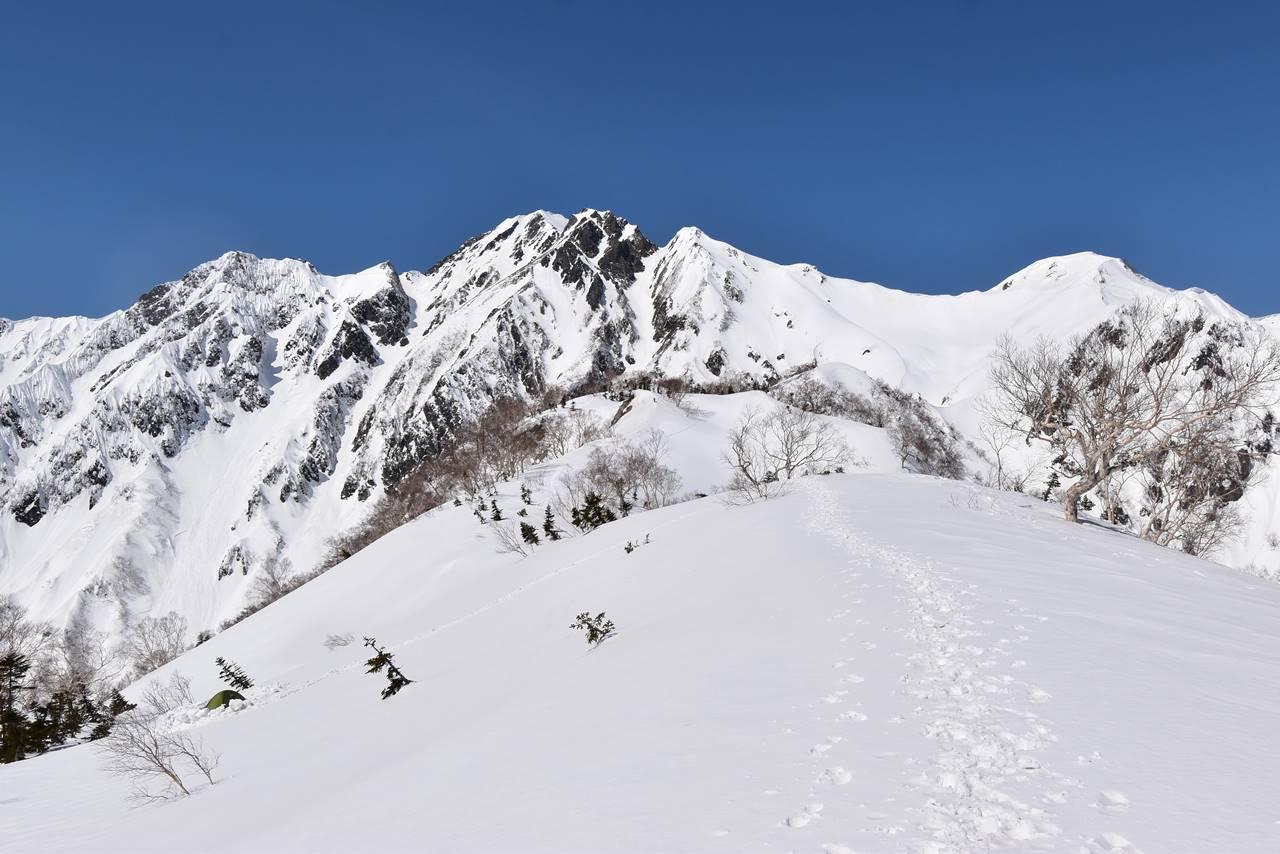 大遠見山から眺める五竜岳