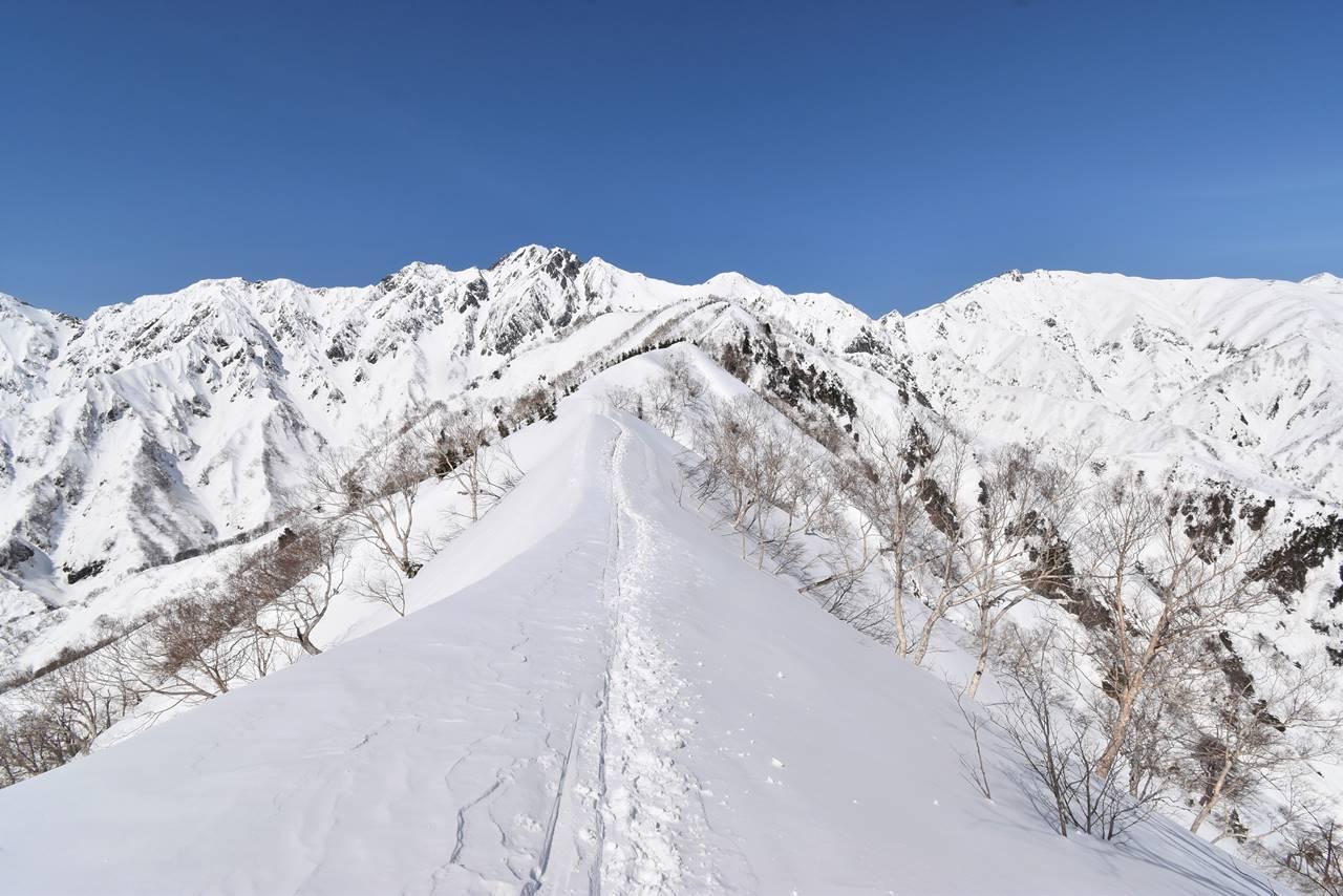 雪の遠見尾根スノーハイク