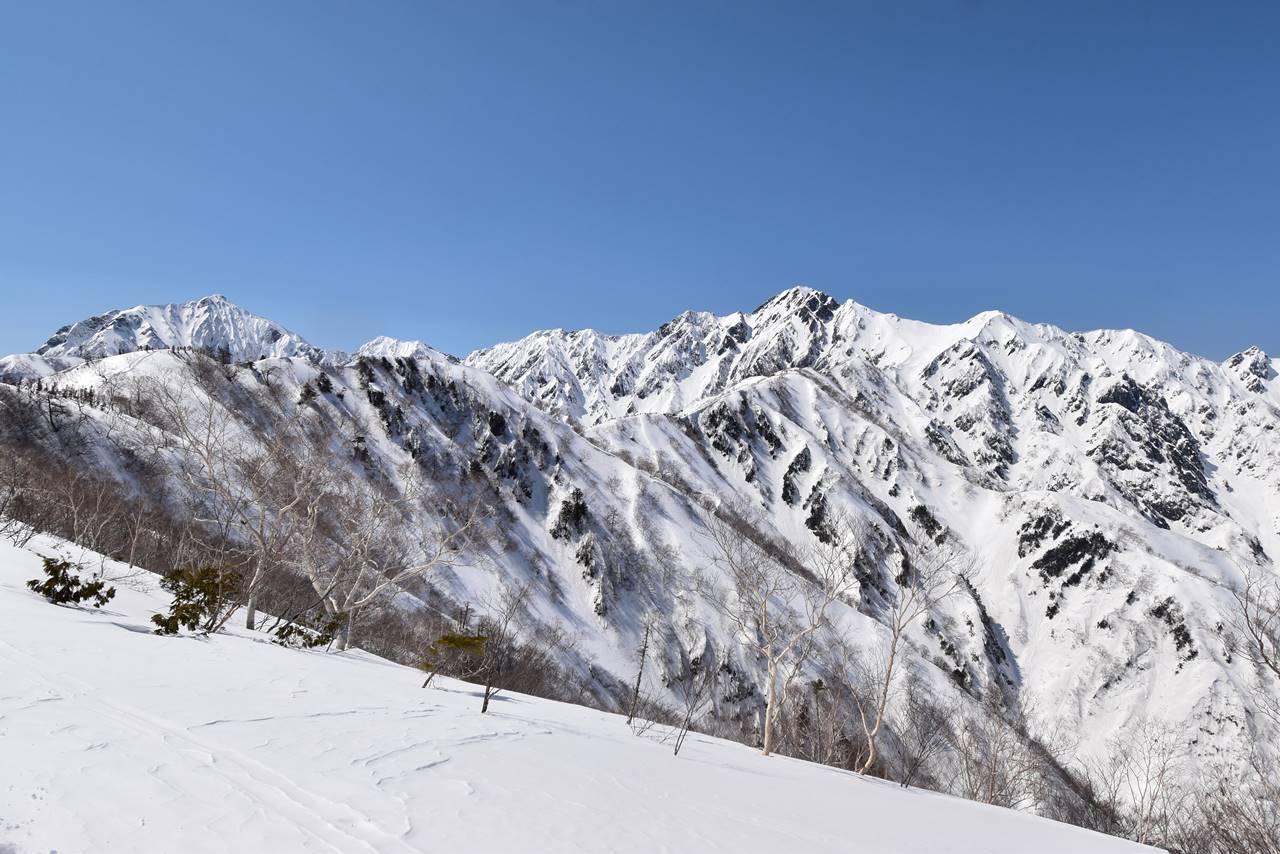 遠見尾根から眺める五竜岳