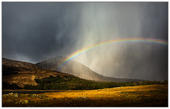 Hailstorm over Ben na Caillich, Swordale, Isle of Skye